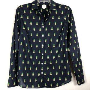 J Crew Factory pineapple print shirt